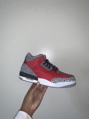 "Photo Jordan Retro ""Red Cement"" 3 size 6.5Y"
