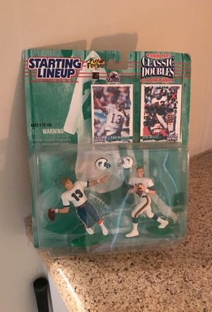 Dan Marino and Bob Griese action figures with playing cards. for Sale in Winter Park, FL