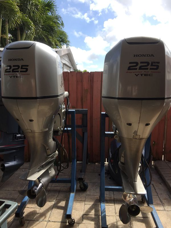 Twin 2005 Honda 225 Hp Four Stroke Outboards 600 hours for Sale in Miami,  FL - OfferUp