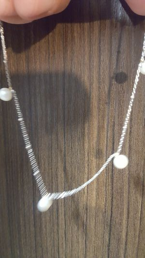 Pearl ankelet with 14k white gold for Sale in Orlando, FL