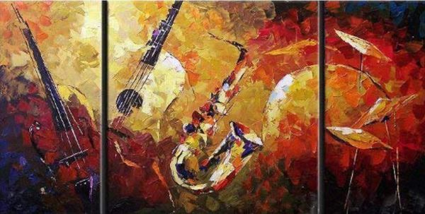 Modern Canvas Art Jazz Wall Decor Abstract Oil Painting Home Household In Lake Worth Fl Offerup