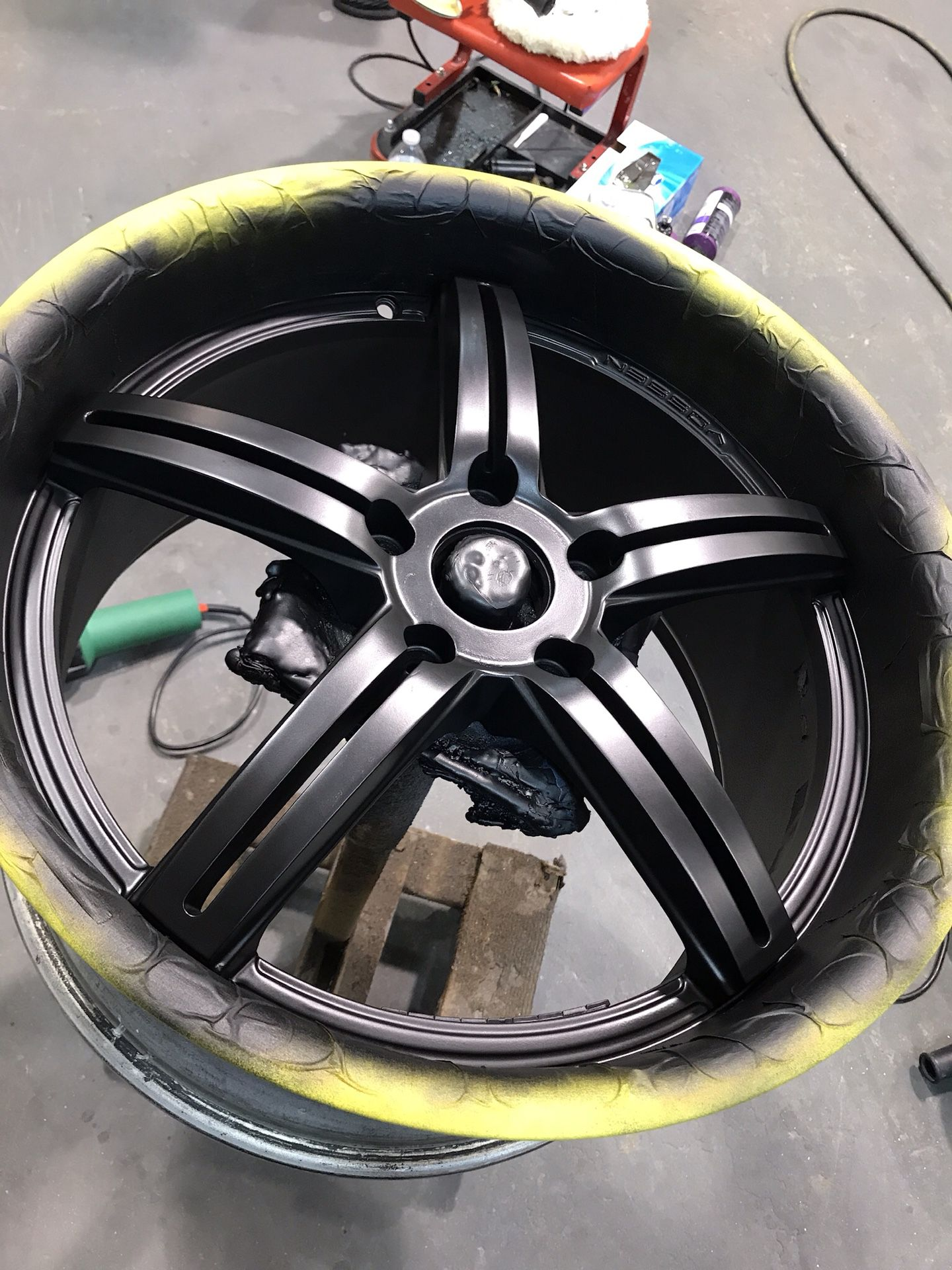 Vossen wheel painted by us