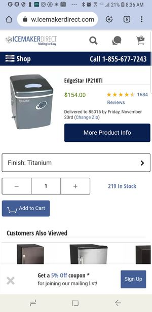 Ice maker 50.00 for Sale in Peoria, AZ