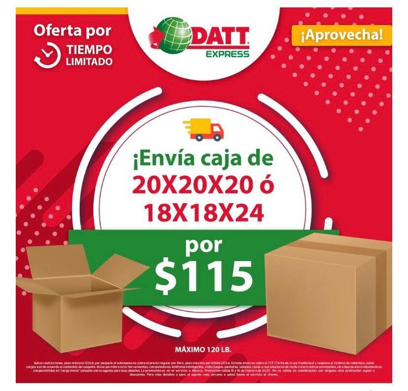 Envíos de cajas a México