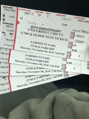 Universoul circus tickets for Sale in Philadelphia, PA