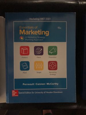 Essentials of Marketing 15th edition for Sale in Houston, TX