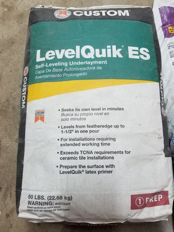 Level Quik Self Leveling Underlayment