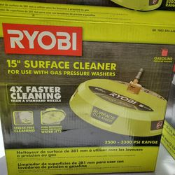 RYOBI 15 in. 3300 PSI Surface Cleaner for Gas Pressure Washer Thumbnail