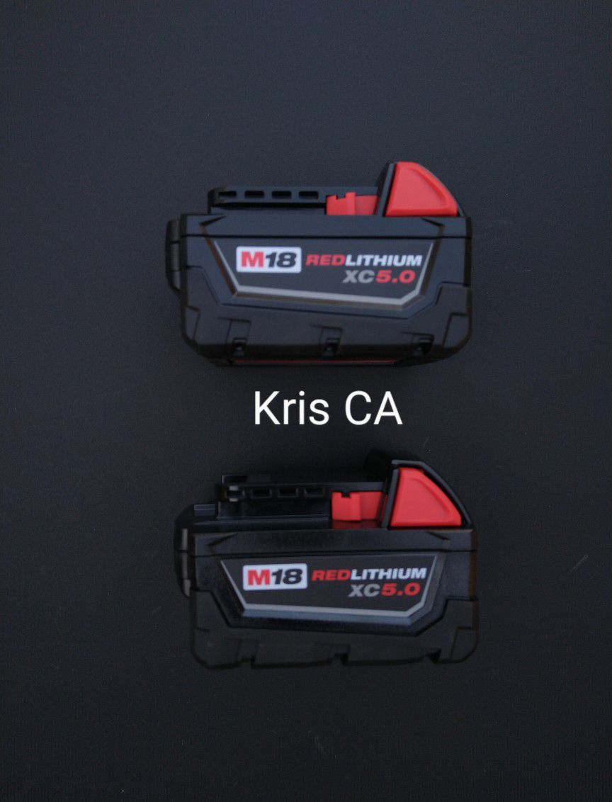 M18 Milwaukee 5.0 Batteries