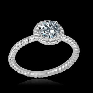1.5CT(5.5mm)intensely Radiant round bezel Diamond Veneer set Sterling Silver Rhodium Wedding/Engagement Ring. 635R75067 for Sale in San Diego, CA