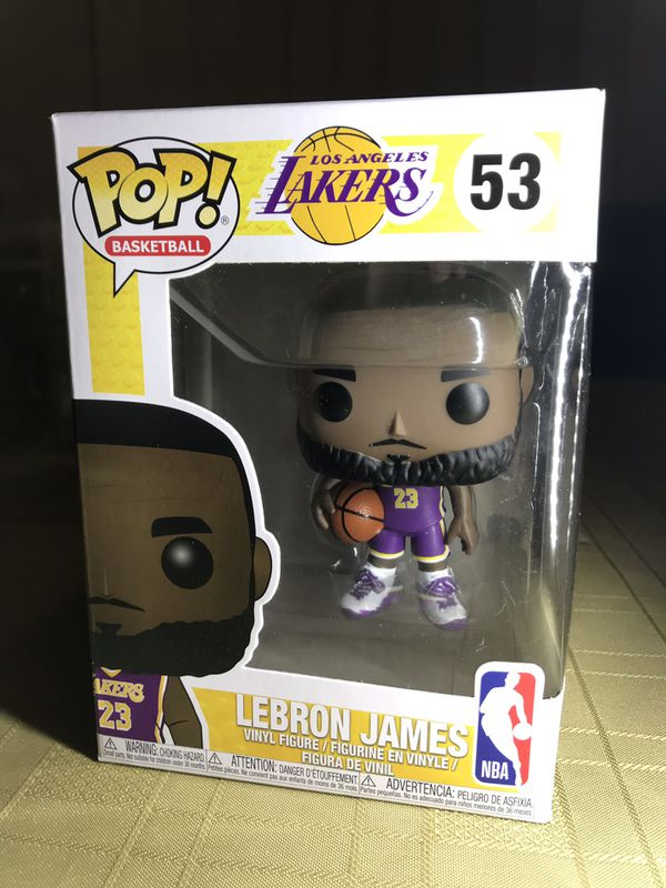 d8d8757b378 Funko Pop NBA LeBron James Lakers Purple Jersey Fanatics Exclusive Sold Out
