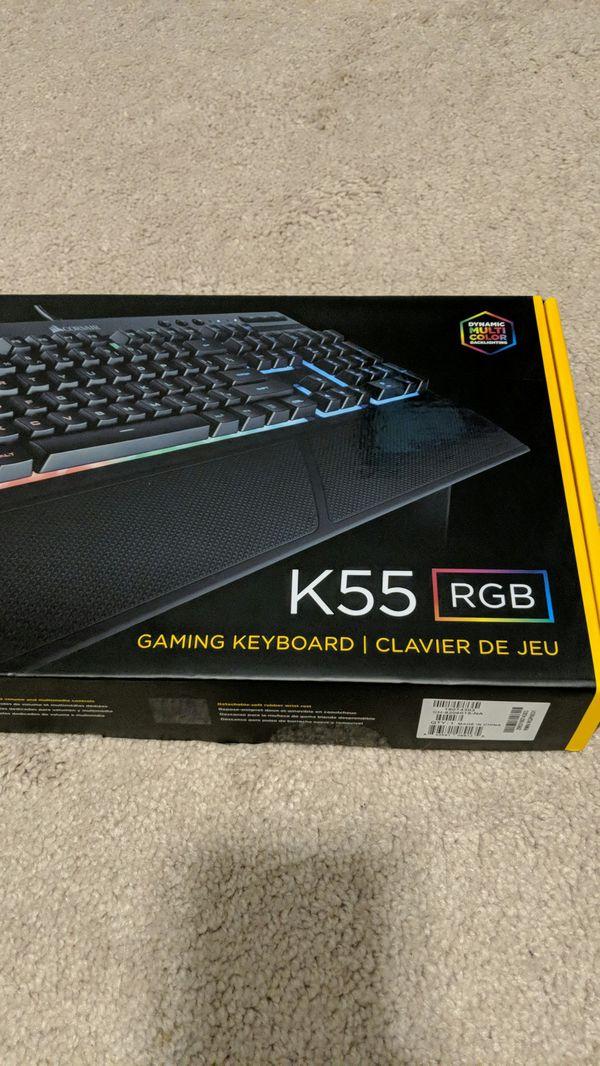 67c924a4a94 Corsair K55 RGB keyboard for Sale in Franklin, TN - OfferUp