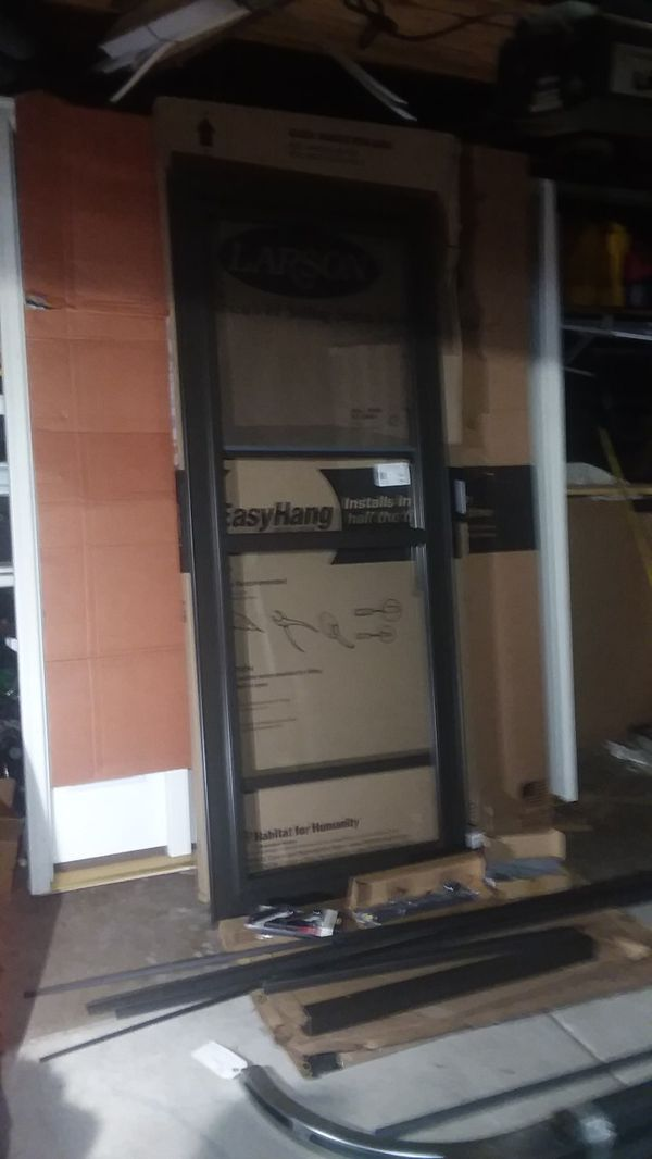 New Storm Door Size W 32 H 80 81 All Parts Included Lock
