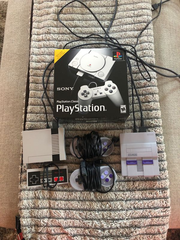 Nintendo NES, Super Nintendo PlayStation Classic for Sale in Los Angeles,  CA - OfferUp