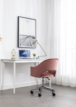 Rose gold velvet vanity chair office chair desk chair pink vanity chair velvet chairs BRAND NEW IN BOX Thumbnail