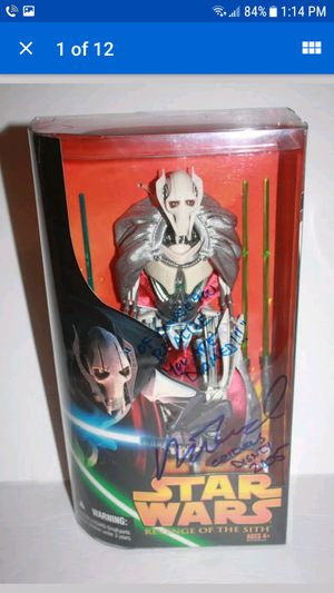 Star Wars General Grievious Signed Action Figure for Sale in Kissimmee, FL