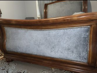 Wood Bed And Dresser Thumbnail