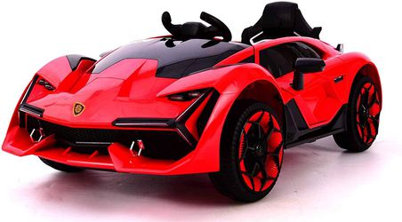 NEW KIDS LAMBO STYLE RIDE ON WITH REMOTE CONTROL MUSIC Thumbnail
