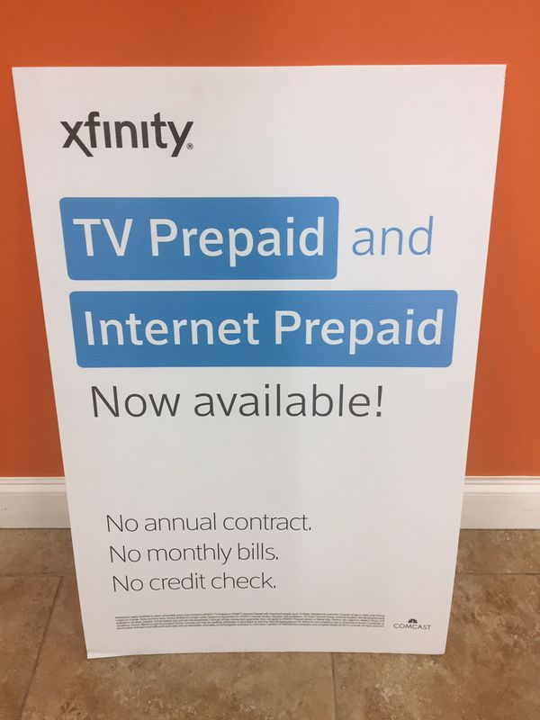 $45 00 Xfinity Pre-Paid Internet w/ unlimited Movies endless internet for  Sale in Hollywood, FL - OfferUp