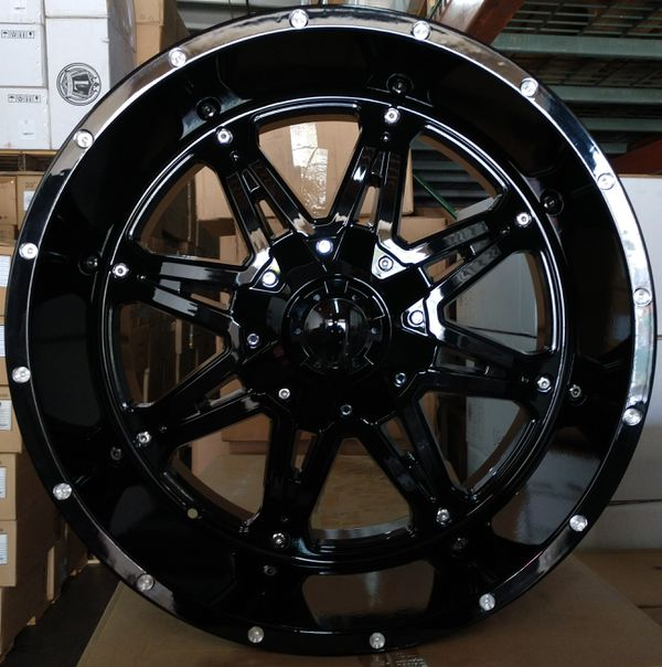 22x12 Wheels New In Boxes 6 Lug 6x139.7 And 6x135 Fits All