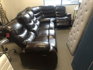 Sofa with recliner for Sale in Alexandria, VA