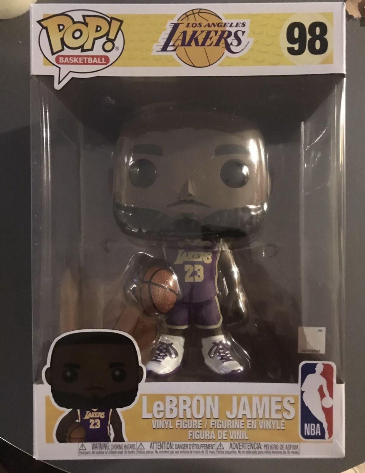 "Funko Pop NBA Lebron James 98 La Lakers 10"" Inch Purple Jersey ..."