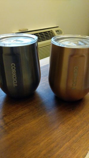 Two Corkcicle wine glasses for Sale in Washington, DC