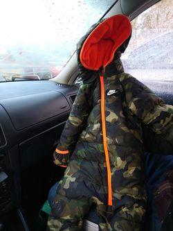 two 6 month boy snow suit Levi & nike Thumbnail