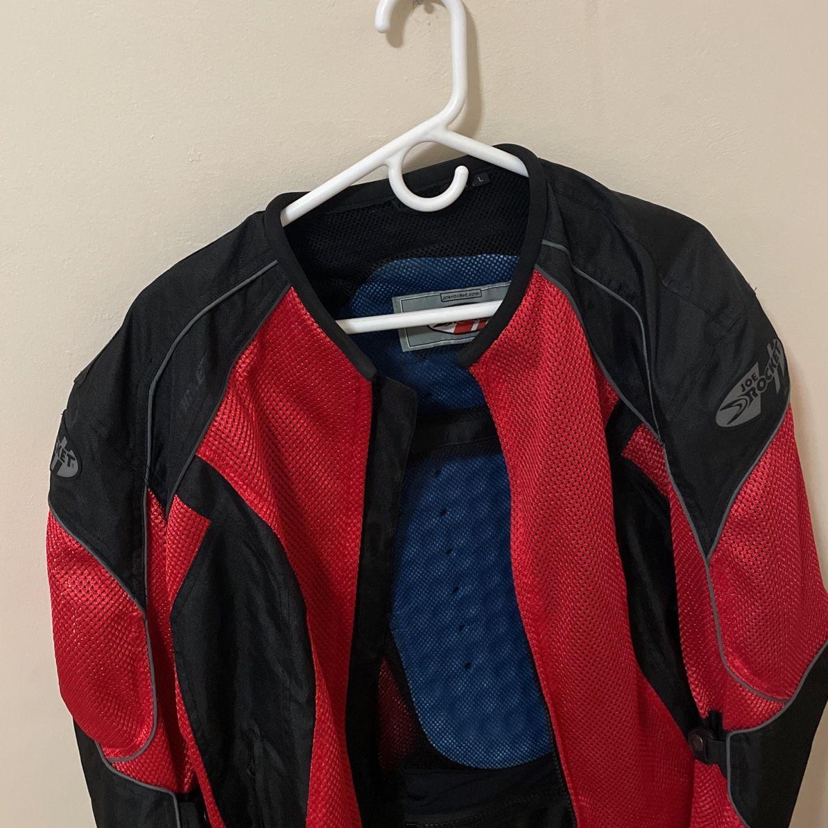 Photo Joe Rocket Red Mesh Motorcycle Jacket Size L