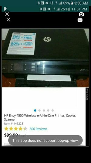 HP ENVY WIRELESS PRINTER for Sale in Pittsburgh, PA