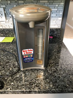 Zojirushi CD-WBC40-TS Micom 4-Liter Water Boiler and Warmer, Silver Brown for Sale in White Plains, MD