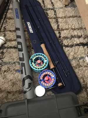 9 weight 9 foot sage fly rod with both reels ones a Allen actually both Allen's brand for Sale in Salt Lake City, UT