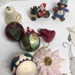 Huge Lot of 21 Vintage Christmas Ornaments Santa Snowflake Soldier Thumbnail