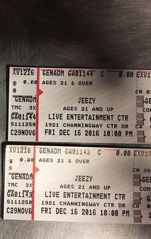 Young Jeezy concert TONIGHT $30 for Sale in Columbus, OH