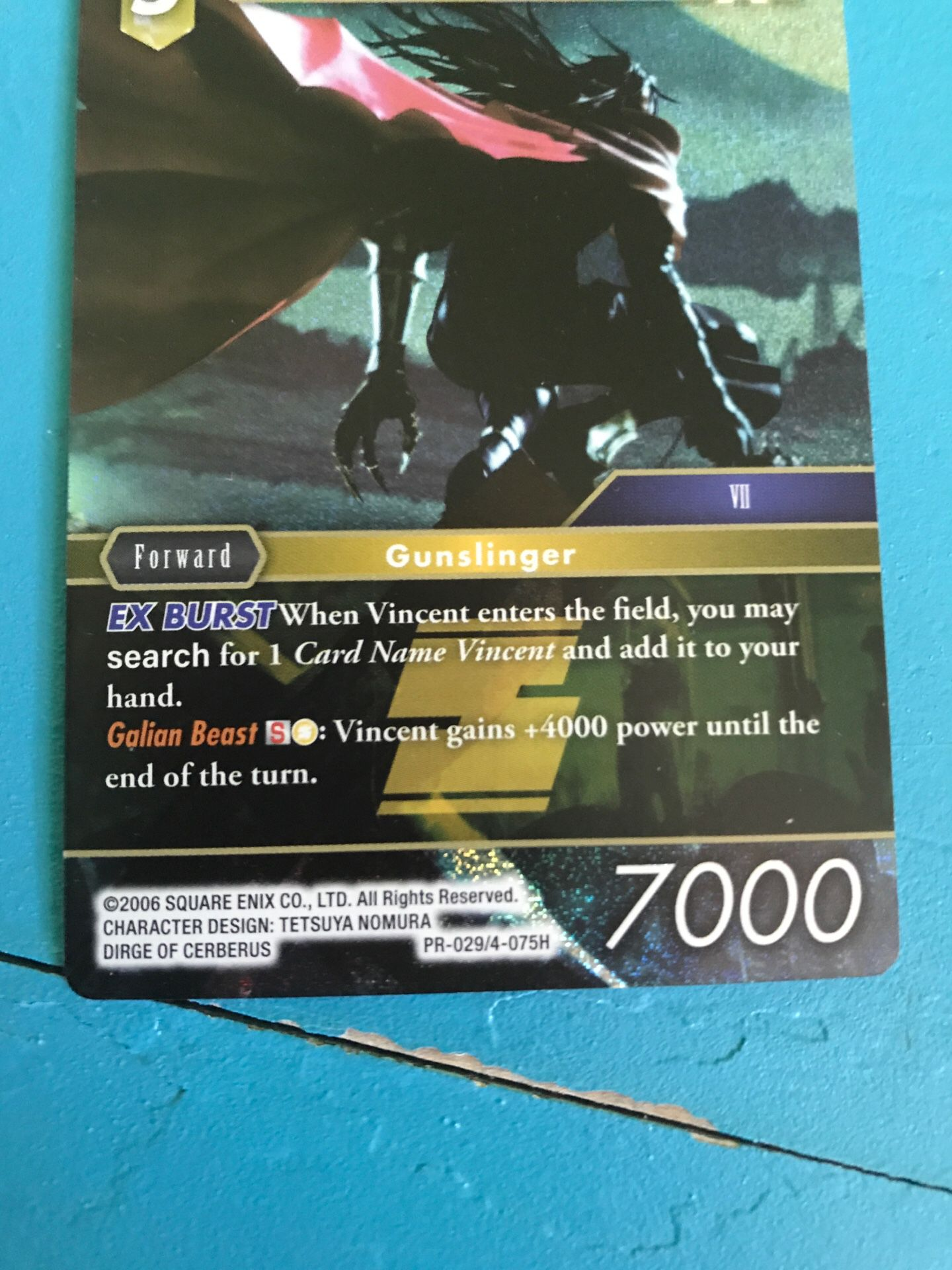 Vincent Final Fantasy Foil Ex Card and Pure Hearted Son Goku