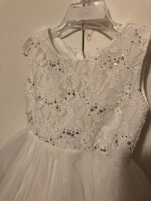 White dress size is 3/4T for Sale in Rockville, MD