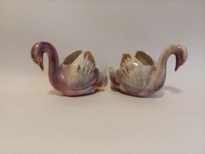Vintage pair of porcelain swans for Sale in Orlando, FL