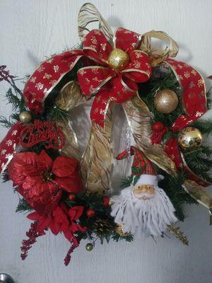 front door decoration Christmas Wreath handmade $30 for Sale in Phoenix, AZ