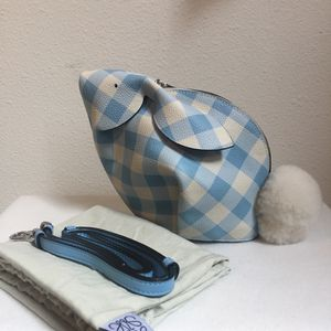 274858699c77 NEW AUTHENTIC LOEWE Gingham Bunny Mini Shoulder Bag Shearling Tail  1.49K  for Sale in Renton