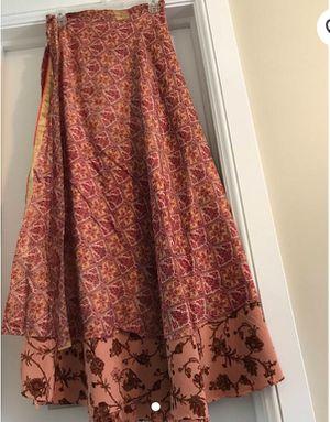 Reversible Handmade SAREE Skirt, Sari Skirt, One size fits all Long Sari Skirt. for Sale in Salt Lake City, UT