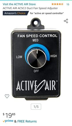 """Hydrofarm Active Air 4"""" Inline Duct Fan and Speed Controller Thumbnail"""