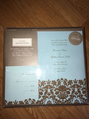 50 ct Printable Invitation Cards *New* for Sale in Seattle, WA