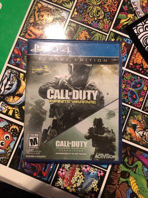 PS4 Legacy Edition call of duty infinite warfare + modern ware fare for Sale in Phoenix, AZ