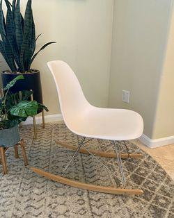 Mid century modern style rocking chair Thumbnail