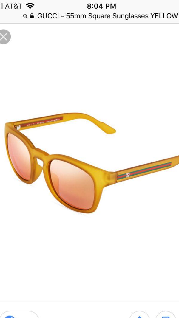 4fc5a76b7 GUCCI – 55mm Square Sunglasses YELLOW for Sale in Chula Vista