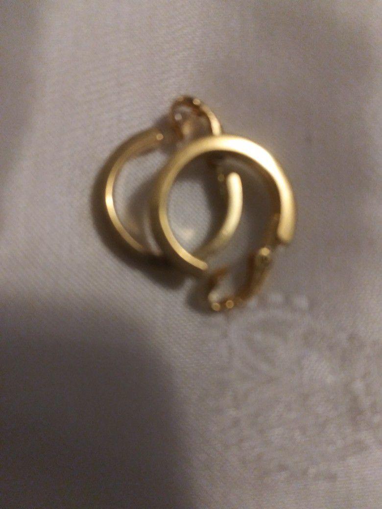 Accents Hallmark Gold Tone Hoops Clip Earrings