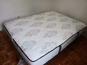 Clean and used very few times... 600 for both matress and box spring for Sale in Gaithersburg, MD