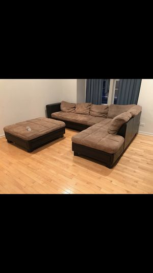 Sectional Sofa and Ottoman for Sale in Hoffman Estates, IL