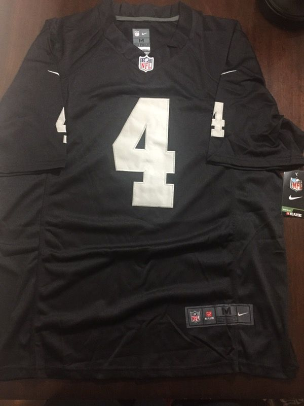 2a7fc9e5c New Derek Carr Oakland Raiders Jersey all Stitched Mens M or L for ...