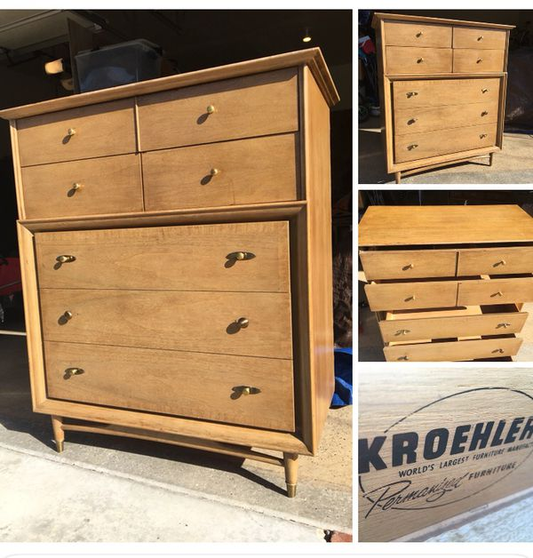 Mcm Tall Dresser By Kroehler Furniture For Sale In Boise Id Offerup